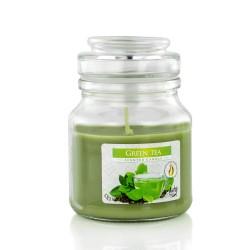 świeca zapachowa o zapachu zielonej herbaty