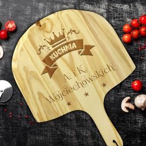 deska do pizzy z grawerem personalizacji na prezent dla pary