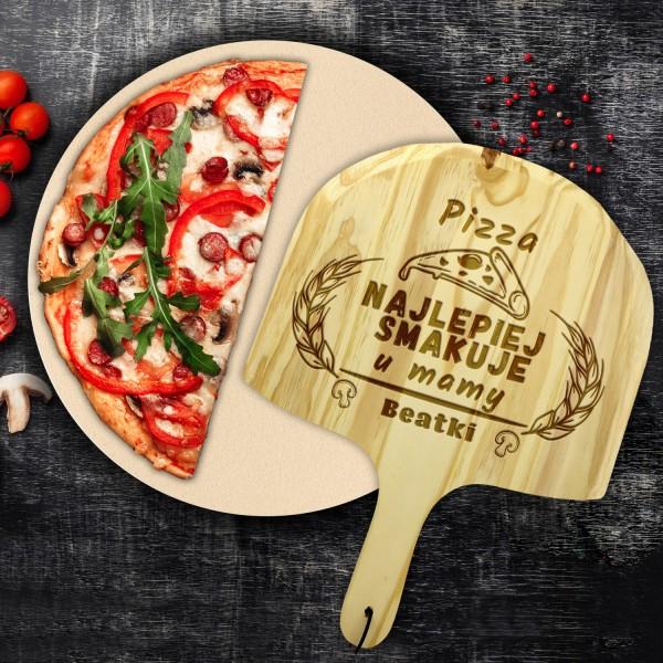 kamień do pizzy z deską z grawerem na prezent na dzień mamy