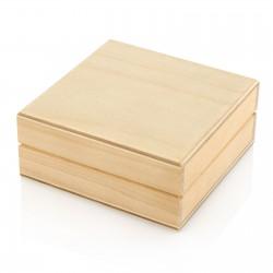 drewniane pudełko na grawerowane spinki do mankietów na prezent na urodziny brata