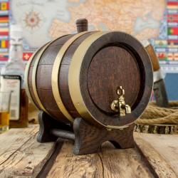 ręcznie robiona beczka z drewna dębu z kurkiem i kranikiem na alkohol