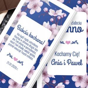 personalizowana czekolada z dedykacją dla babci