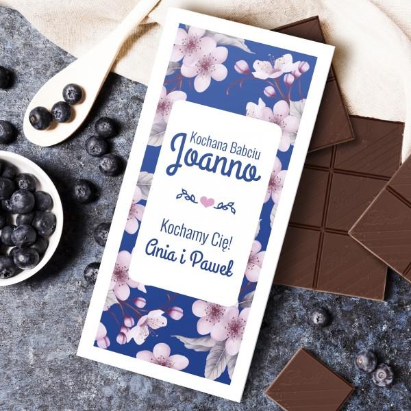 czekolada w obwolucie z dedykacja na prezent na dzień babci