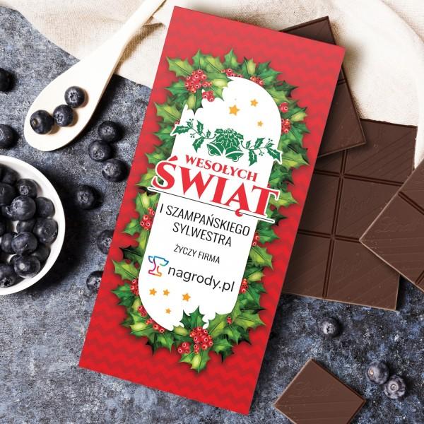 czekolada w personalizowanej obwolucie na prezent dla pracowników na święta