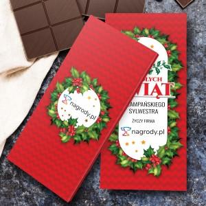obustronnie dedykowana obwoluta czekolady na prezent z okazji świąt dla pracowników