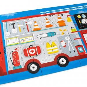 puzzle czuczu wóz strażacki dla dzieci od 2 lat z możliwością personalizacji
