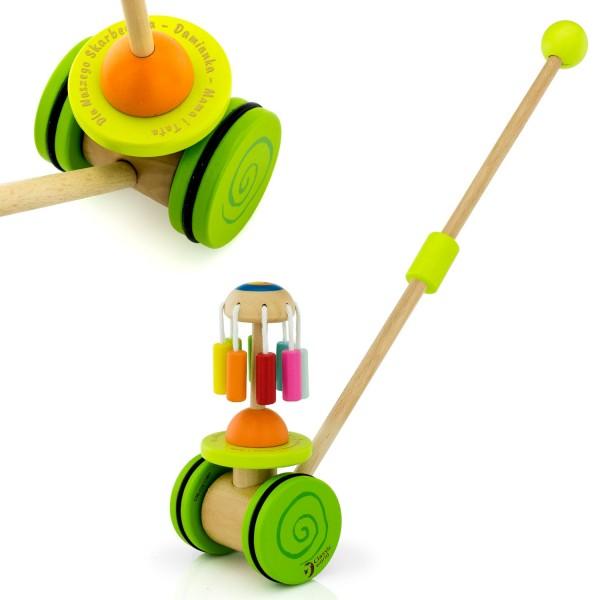 drewniana zabawka dla dziecka pchacz