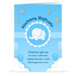 kartka urodzinowa dla chłopca z nadrukiem imienia i personalizacji
