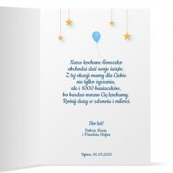 kartka z życzeniami i z personalizacją na urodziny dla chłopca
