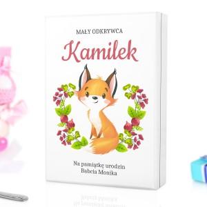 kaseta z personalizacją na sztućce dla dzieci z grawerem na prezent dla chłopczyka na urodziny