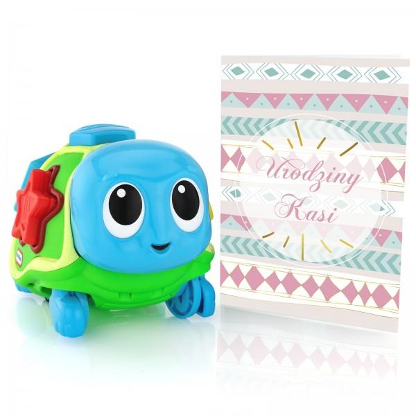 zabawka edukacyjna dla dziewczynki na urodziny z kartką z personalizacją