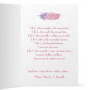 personalizowana kartka z życzeniami dla dziewczynki na urodziny