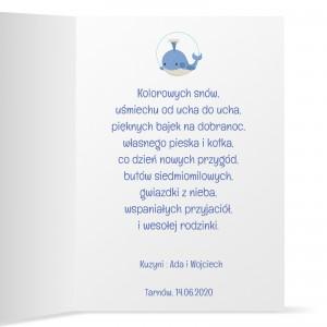 życzenia dla dziecka na urodziny na kartce z personalizacja