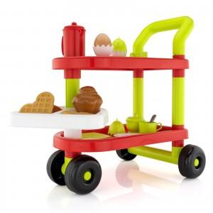 edukacyjna zabawka do zabawy w odgrywanie ról, plastikowy wózek śniadaniowy