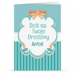 personalizowana kartka dla dziecka z nadrukiem życzeń