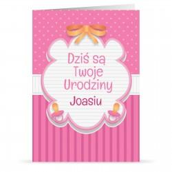 personalizowana kartka urodzinowa z imieniem dla dziewczynki