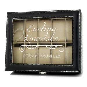 elegancka szkatułka do przechowywania zegarków z możliwością personalizacji