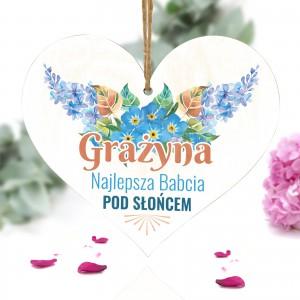 personalizowana tabliczka serce dla babci z nadrukiem dedykacji