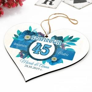 prezent na szafirową rocznice ślubu 45 rocznica