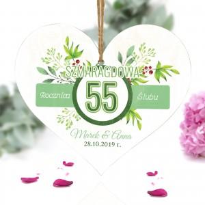 55 rocznica ślubu - pamiątka na szmaragdową rocznicę ślubu