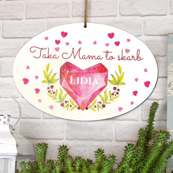 spersonalizowana tabliczka z dedykacją na prezent dla mamy