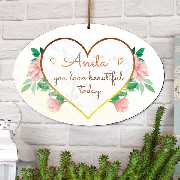 tabliczka z dedykacją na prezent dla ukochanej dziewczyny