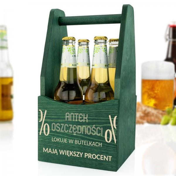 skrzynka na piwo z grawerem na prezent
