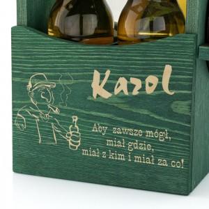 grawer dedykacji na drewnianej skrzynce na piwo na prezent dla miłośnika piwa
