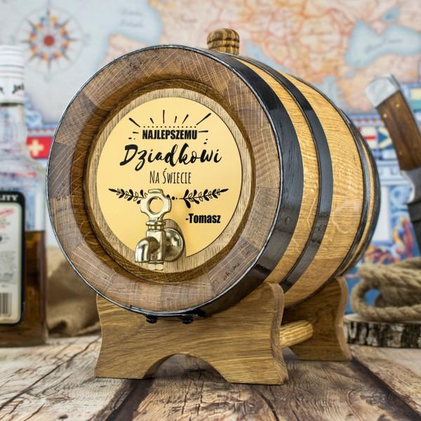 beczka 4 litrowa na alkohol jako prezent dla dziadka z grawerem