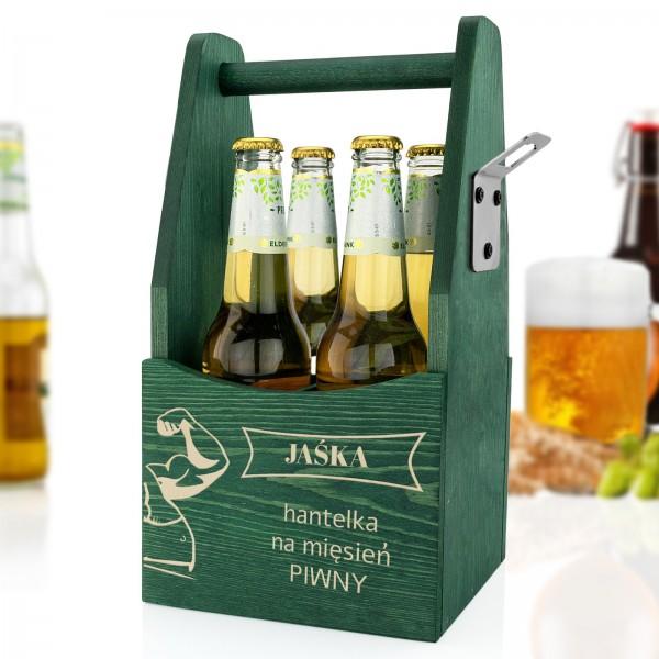 personalizowana skrzynka na piwo z grawerem dla mężczyzny