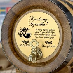 beczka dębowa 4 litry na alkohol na prezent dla dziadka