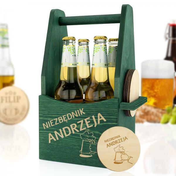 skrzynka na piwo z grawerem dla mężczyzny na prezent