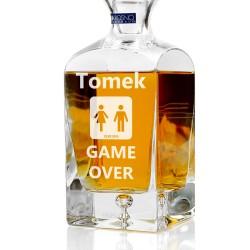 spersonalizowana grawerem dedykacji ekskluzywna karafka do whisky na prezent dla niego na wieczór kawalerski