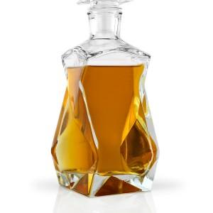 elegancka szklana karafka na prezent na 40 rocznicę ślubu dla rodziców lub teściów