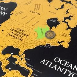 mapa zdrapka świata na prezent dla podróżnika