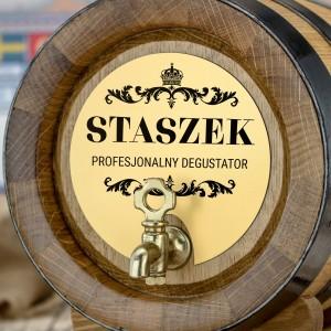 personalizowana beczka dębowa z grawerem profesjonalny degustator