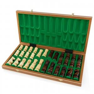figury szachowe w zielonym etui na prezent dla dziadka na urodziny