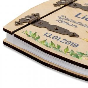 nadruk na album w okładce drewnianej