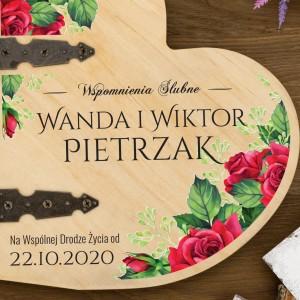 album z kolorowym nadrukiem na prezent na rocznicę ślubu