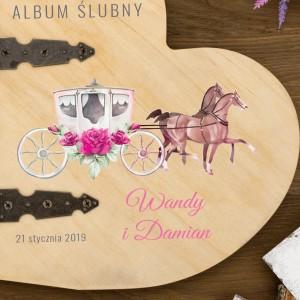 personalizowany album ślubny z kolorowym nadrukiem