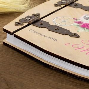 album drewniany - okładka z personalizacja