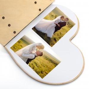 album na zdjęcia drewniany