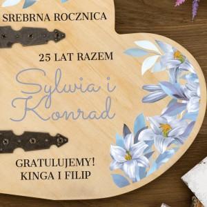 album na zdjęcia z personalizacją na 25 rocznicę ślubu