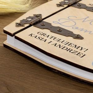 nadruk z personalizacją na albumie na prezent na 25 rocznicę ślubu