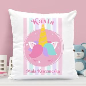 poduszka dla dziewczynki z nadrukiem imienia i napisem mała księżniczka