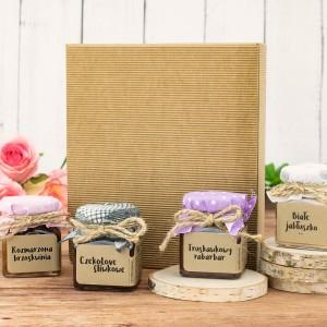 pudełko prezentowe i konfitury prezentowe na prezent pod choinkę dla pary przyjaciół