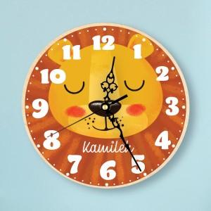 zegar z kolorowym nadrukiem na prezent dla dziecka