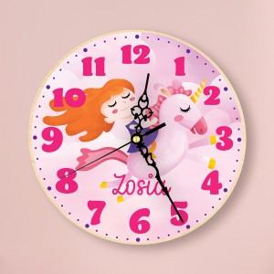 zegar z kolorowym nadrukiem na prezent dla dziewczynki