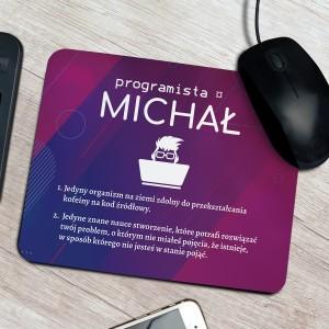podkładka pod mysz z nadrukiem personalizacji na prezent dla syna