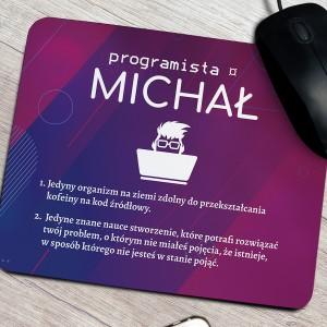 podkładka pod mysz z nadrukiem na prezent dla brata programisty